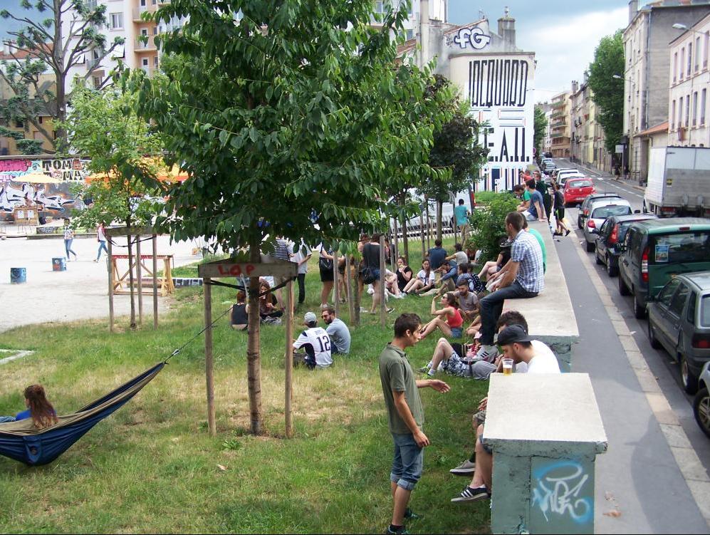 La Cartonnerie, espace public temporaire expérimentale, Saint-Etienne